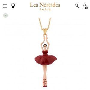 Les Nereides Pas de Deux Ballerina necklace in red